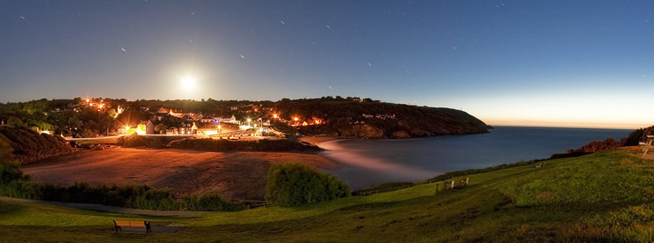 Looking across to Aberporth in the evening